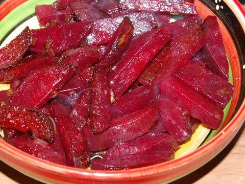 klaarmaken van rode bieten
