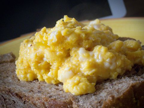 Scrambled eggs a la Heston Blumenthal