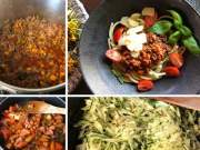 Bolognese saus met courgette